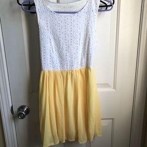 Other - sleeveless dress with light yellow skirt